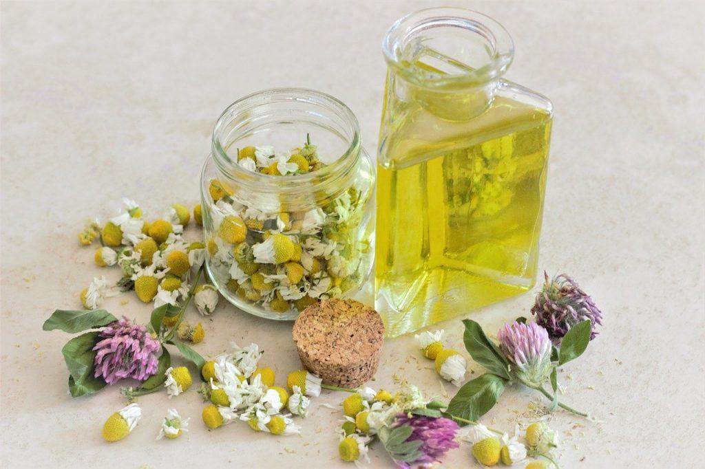 chamomile, oil, aromatherapy