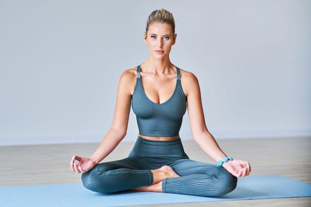 woman, model, yoga