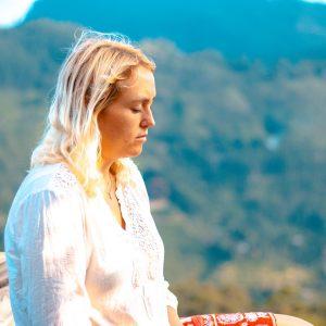 woman, meditate, meditation